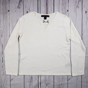 Josephine Chaus White Sweater Size Medium